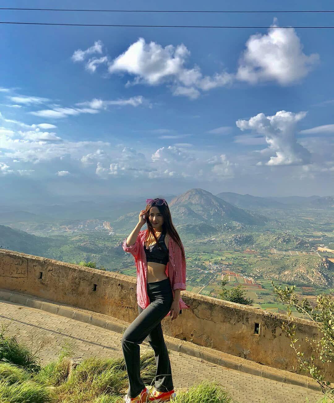 Beautiful Arunachal girl and beautiful background