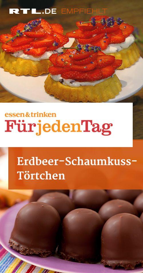 Erdbeer-Schaumkuss-Törtchen