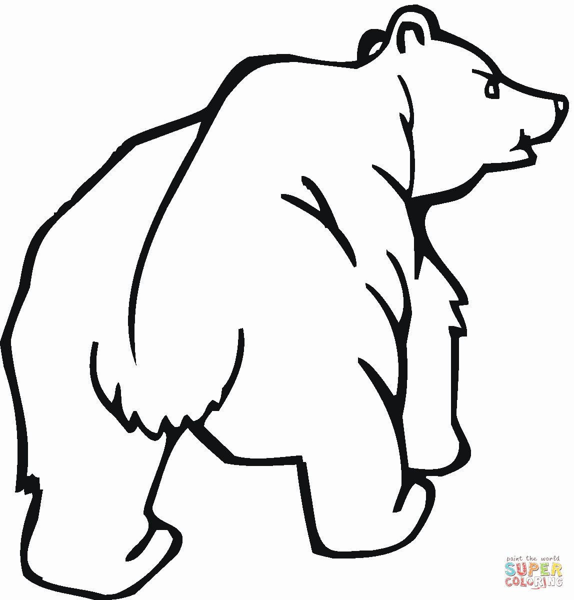 28 Grizzly Bear Coloring Page In With Images