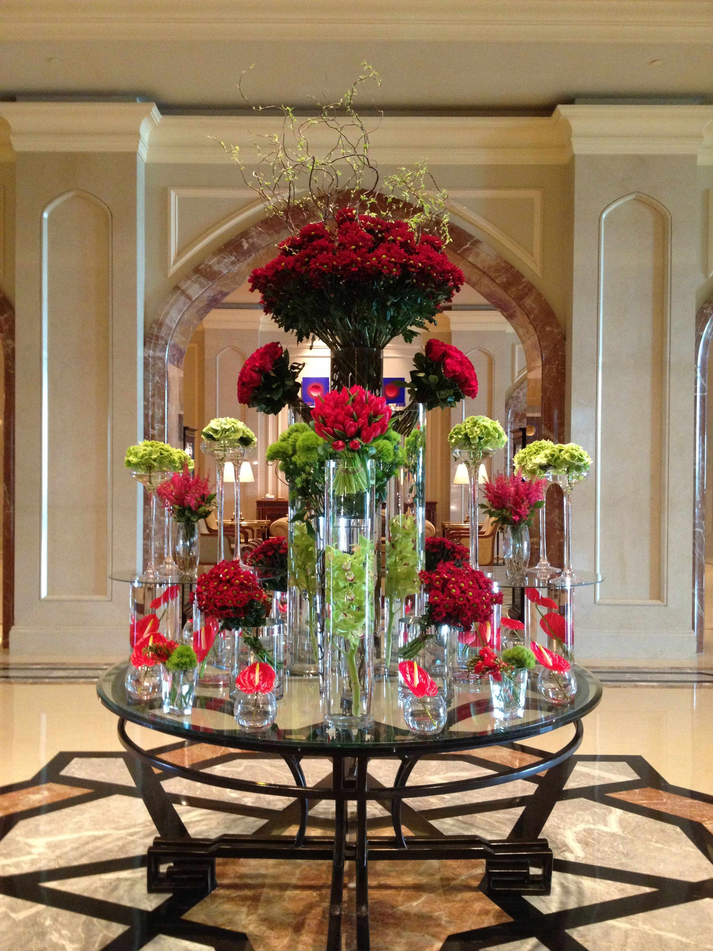 Lobby flowers - Spring | Hotel Centerpieces | Floral ...