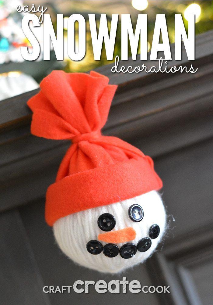 Homemade Snowman Decorations Snowman Decorations Christmas Fun