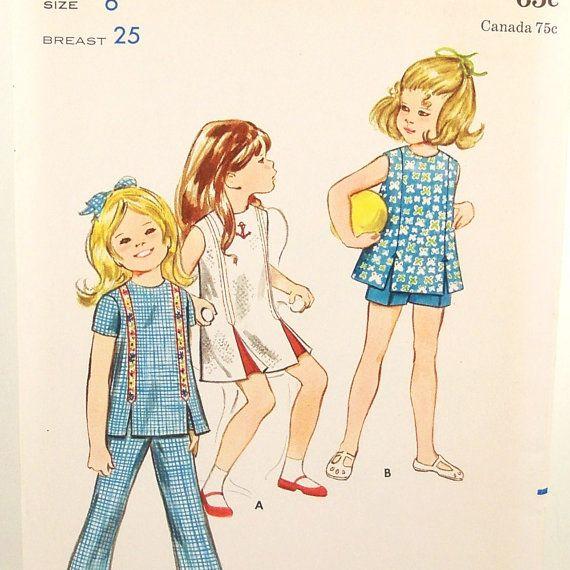 Vintage 60s Girls Wardrobe Pattern Butterick 5740 Uncut by Revvie1, $8.00