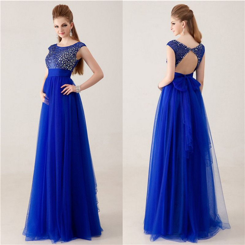 a9d033fce8c3b Royal Blue Party Dress - Vestido de festa - Azul Royal - Vestido para  madrinha