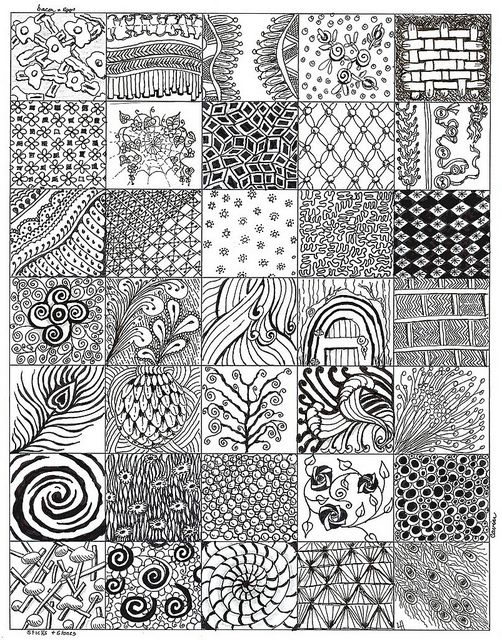 Ethnic Seamless Ornament Zentangle Pattern