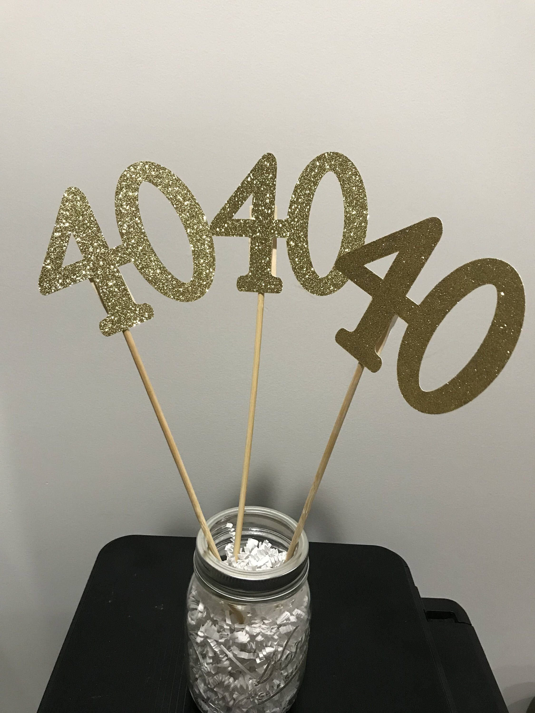 Excited To Share This Item From My Etsy Shop 40th Birthday Centerpiece Sticks Glitter Decoration Table Decorations