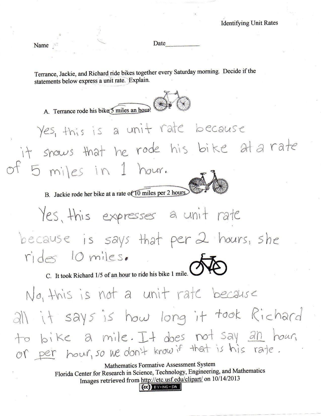 Comparing Unit Fractions Worksheet Paring Rates Worksheet Franklin In 2020 Word Problem Worksheets Unit Rate Worksheet Unit Rate