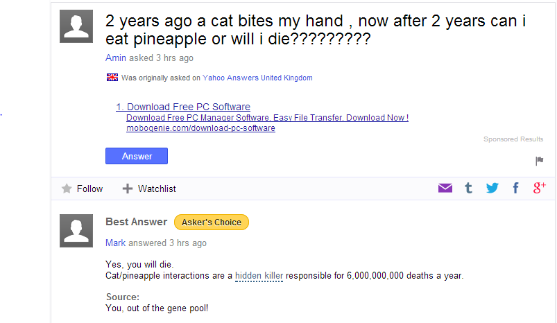 25 hilarious questions on yahoo answers yahoo answers hilarious