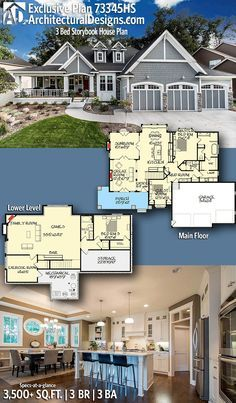 Architectural designs exclusive craftsman house plan hs beds baths sq ft ready when you are where do want to build also bed storybook in plans rh pinterest