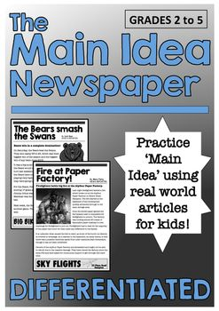 Main Idea Newspaper Differentiated Reading Passages