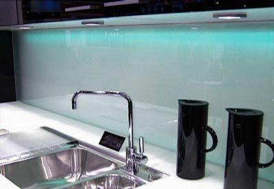 Backlit Backsplash By Poggenpohl Glass Backsplash Kitchen
