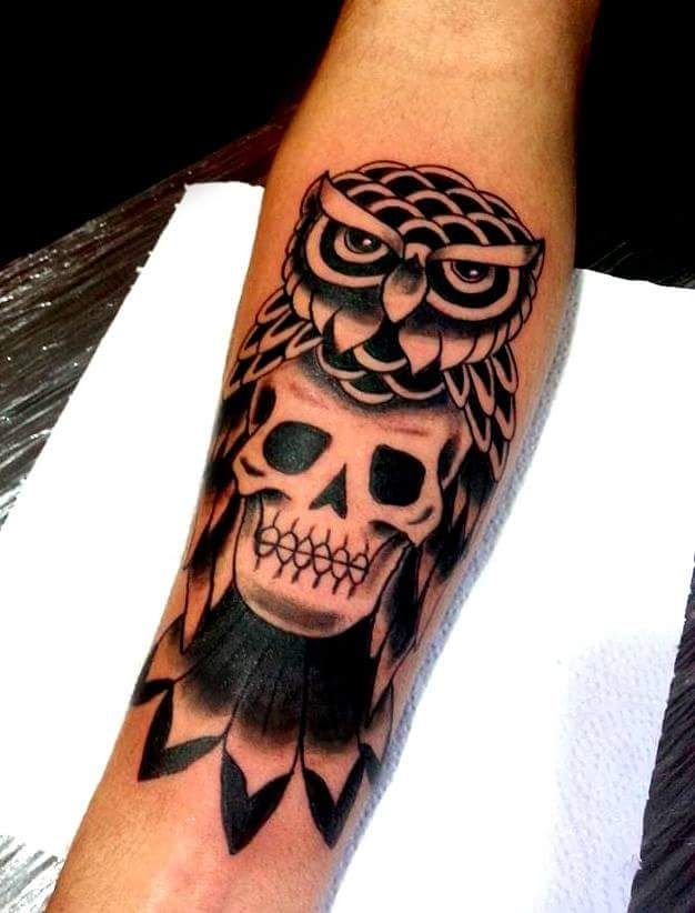 Coruja old school tattoo