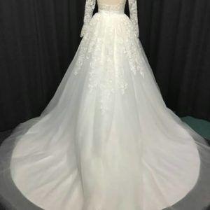 Style #13312 Long Sleeve Wedding Gown train - Darius Cordell
