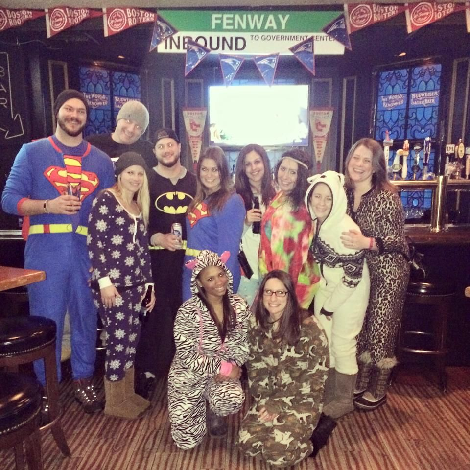 Onesie Bar Crawl - yes this happened in Boston | Birthday