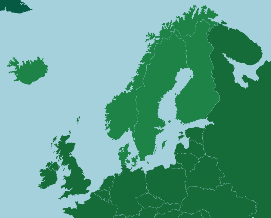Scandinavia: Countries - Map Quiz Game: The region of Scandinavia includes five…