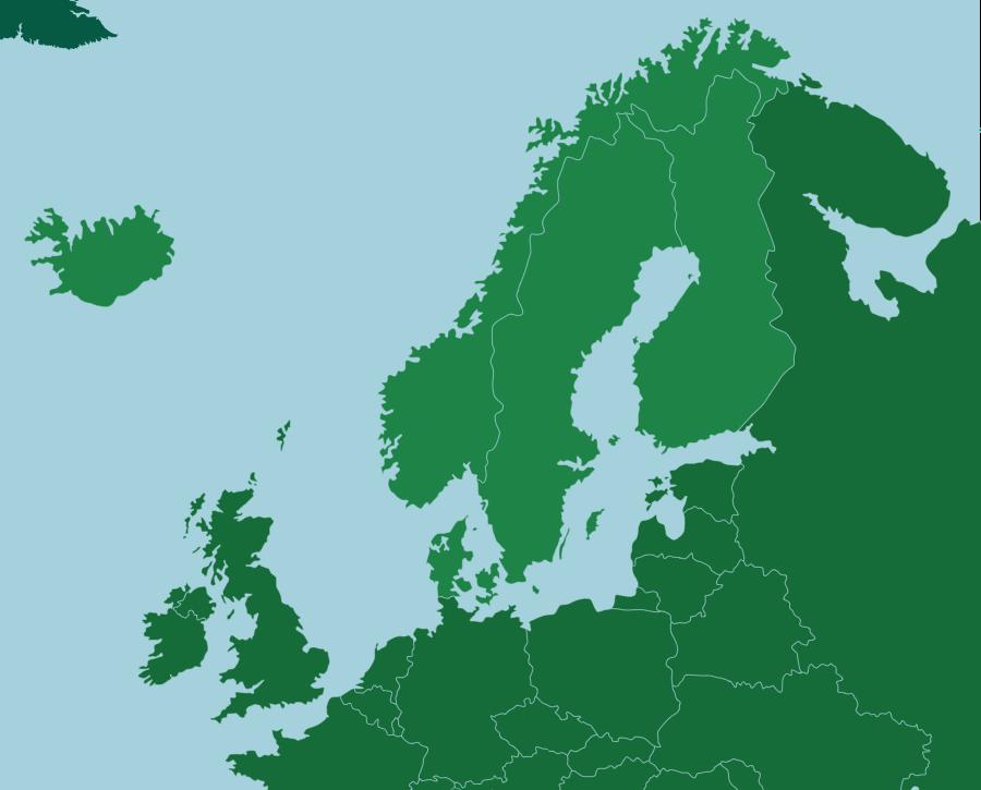 Pohjoismaat: Maat: Seterra on ilmainen karttavisapeli, joka opettaa maita, kaupunkeja ja muita maantieteellisiä paikkoja kaikkialla maailmassa.