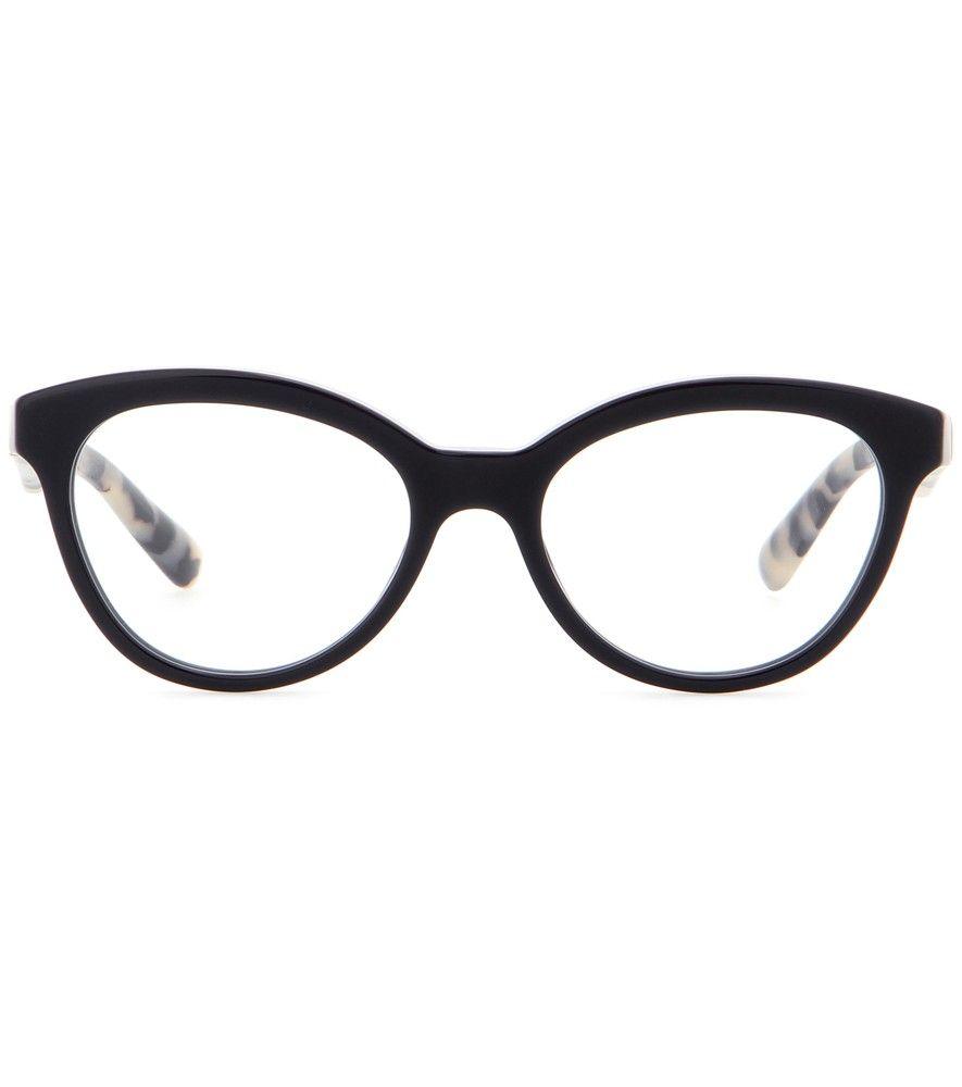 bfb29b475d59 Prada - Brille - Die Brille von Prada ist mit ihrer dezenten  Cat-Eye-Silhouette sowie dem Mix aus Asphaltgrau und klassischer  Schildpattoptik ein ...