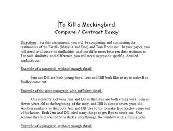 To Kill A Mockingbird Compare And Contrast Essay Format Essay Format Compare And Contrast Essay