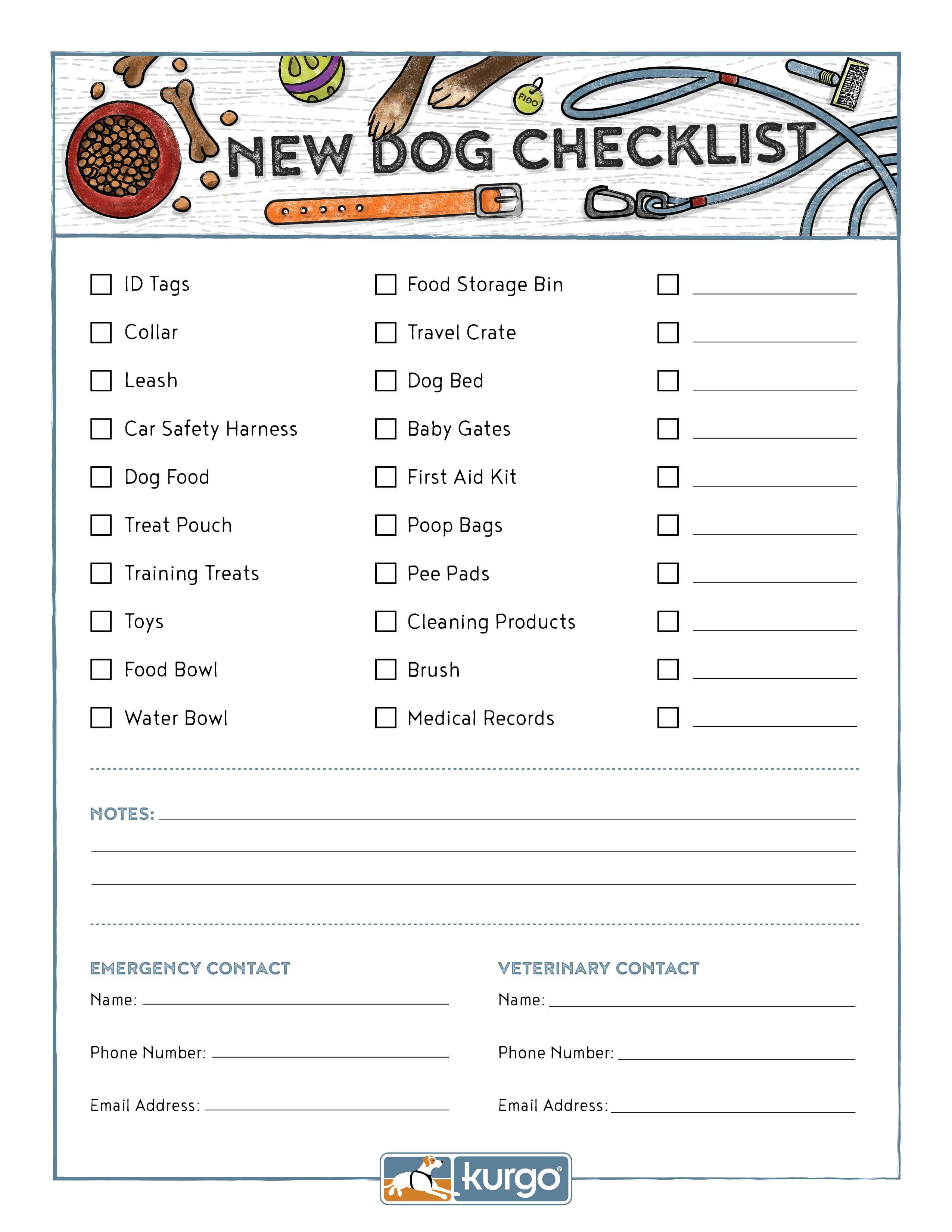 The New Dog Checklist
