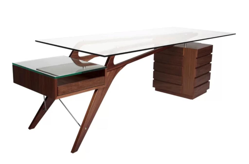 Top 8 Modern Glass Writing Desks For A Luxurious Office Mit Bildern Hering