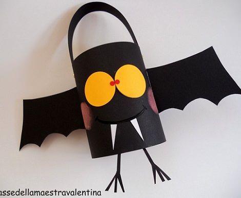 Murciélago Reciclaje Halloween Selber Machen Kinder Laterne Laternen Basteln