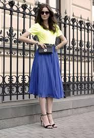 Image result for mid length skirts summer fashion