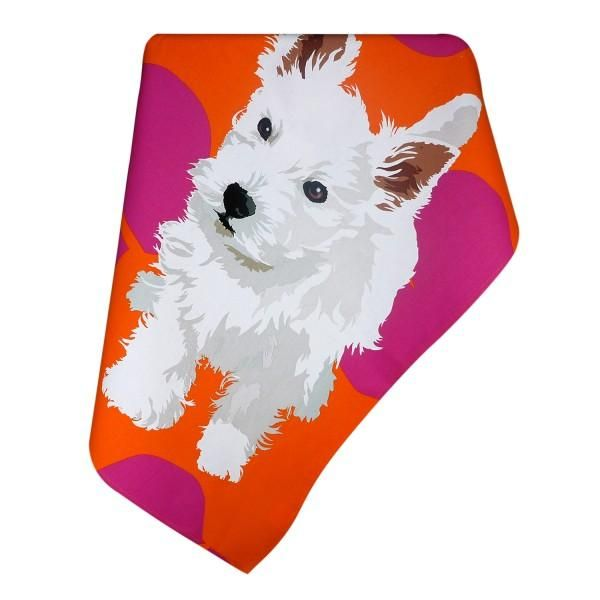 Leslie Gerry Westie Cotton Tea Towel Dog themed gifts