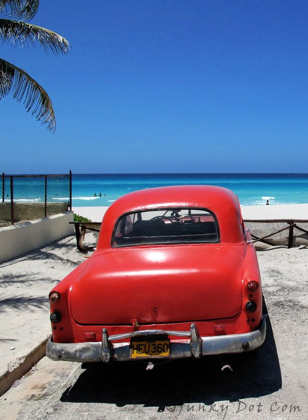 Old Car Parked At The Beach Varadero Cuba Cuba Pinterest Cuba
