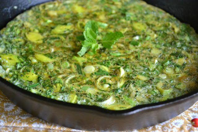 The View from Great Island | Persian Mixed Herb Frittata (Kuku Sabzi)