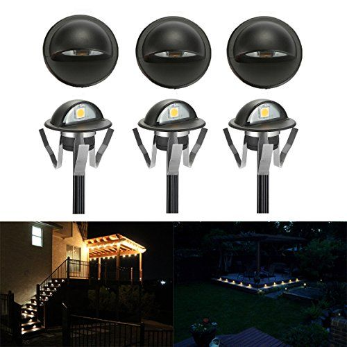 Fvtled Pack Of 6 Warm White Low Voltage Led Deck Lights K Led Deck Lighting Deck Lights Yard Decor