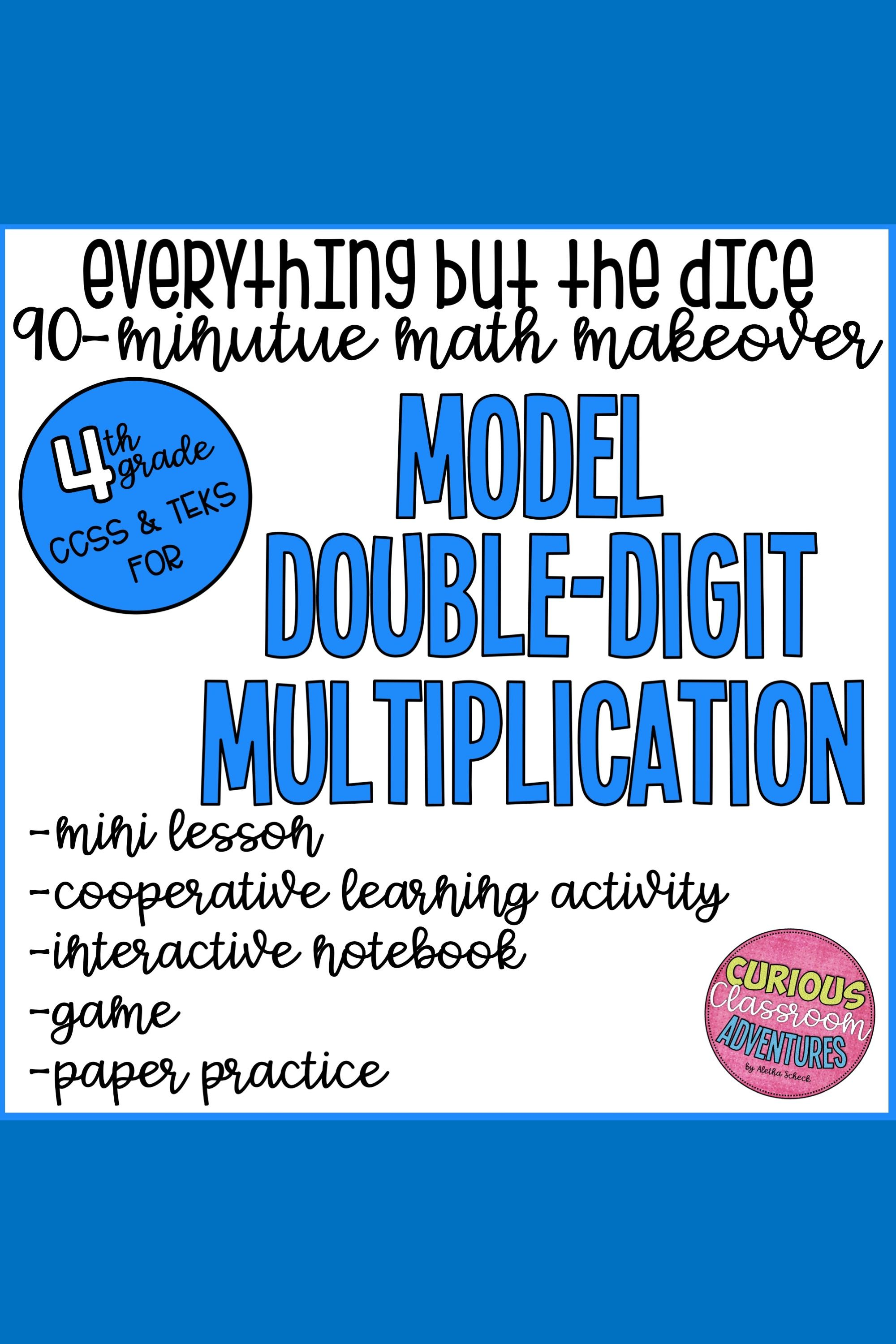 Modeling Double Digit Multiplication Interactive Lesson