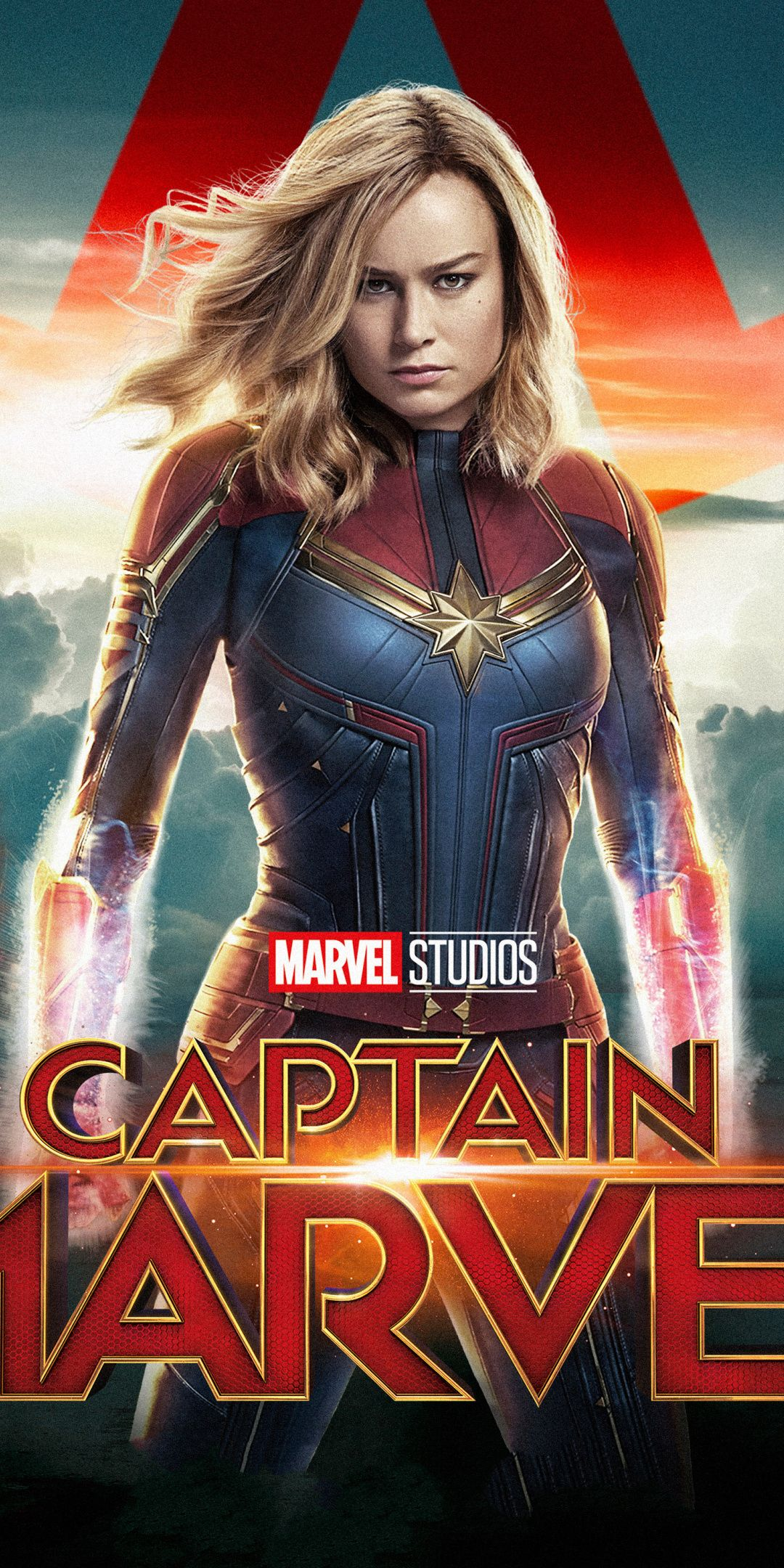 movie, superhero, actress, captain marvel, 1080x2160 wallpaper
