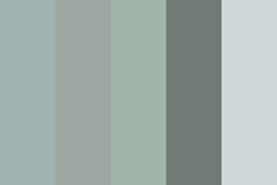 Muted Green Blue Grey Color Palette Blue Color Schemes Blue Gray Paint Grey Color Palette