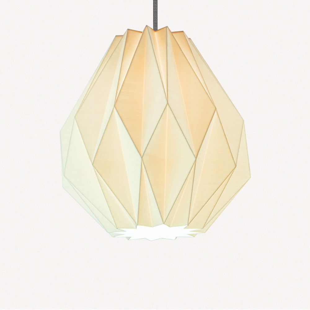 Origami Pendant Light Made From Sugarcane H32cmxw30cm Etsy In 2020 Origami Lampshade Geometric Lampshade Geometric Origami