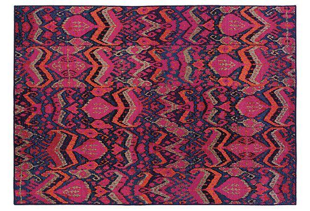Aspen Rug, Pink/Multi | High Impact | One Kings Lane