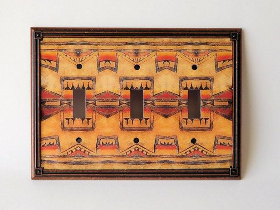 Triple Toggle Native American Art Light Switch Cover by SerraCraft ...