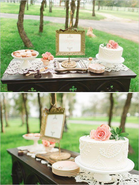 Rustic glam dessert table #rusticwedding #outdoorwedding #dessert #weddingdessert #desserttable
