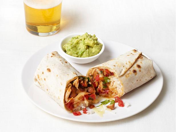 Chipotle Chicken Burritos Recipe Chicken Burritos Food Network Recipes Chipotle Chicken Burritos