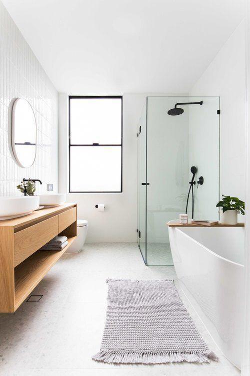 Bathroom Ideas Dark Floor #darkflooring