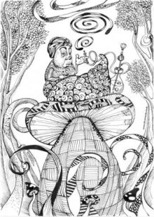 Pin On Alice In Wonderland Coloring Pages