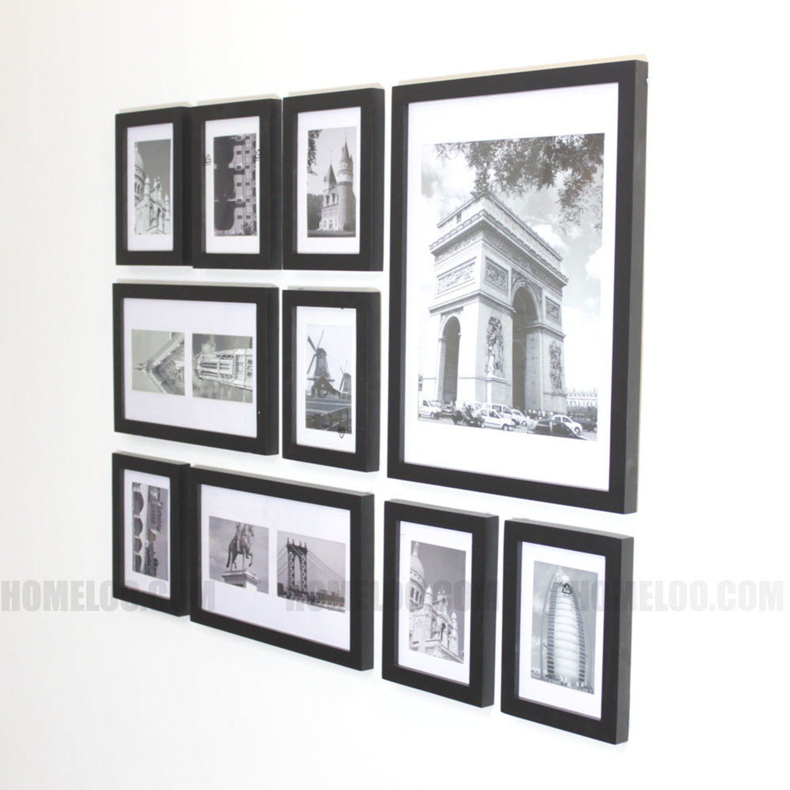 Photo Picture Frame Set Modern 10 Etsy Gallery Wall Layout Frame Wall Collage Frames On Wall