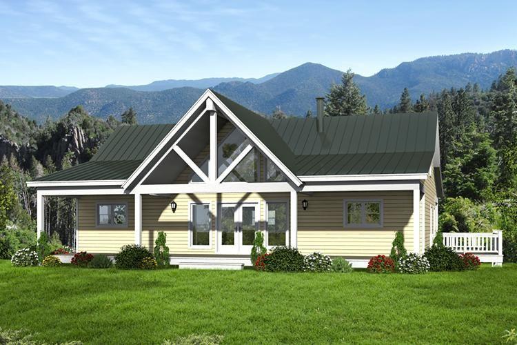 House Plan 940 00018 Mountain Plan 1 500 Square Feet 2 Bedrooms 2 Bathrooms Country Style House Plans Mountain House Plans Cottage Plan