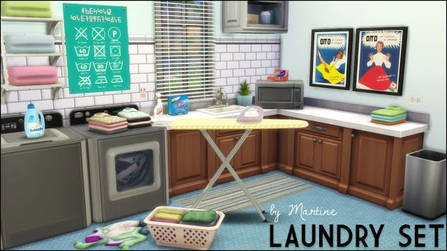 sims 4 cc 39 s the best laundry set by martine 39 s simblr sims 4 cc 39 s the best pinterest. Black Bedroom Furniture Sets. Home Design Ideas