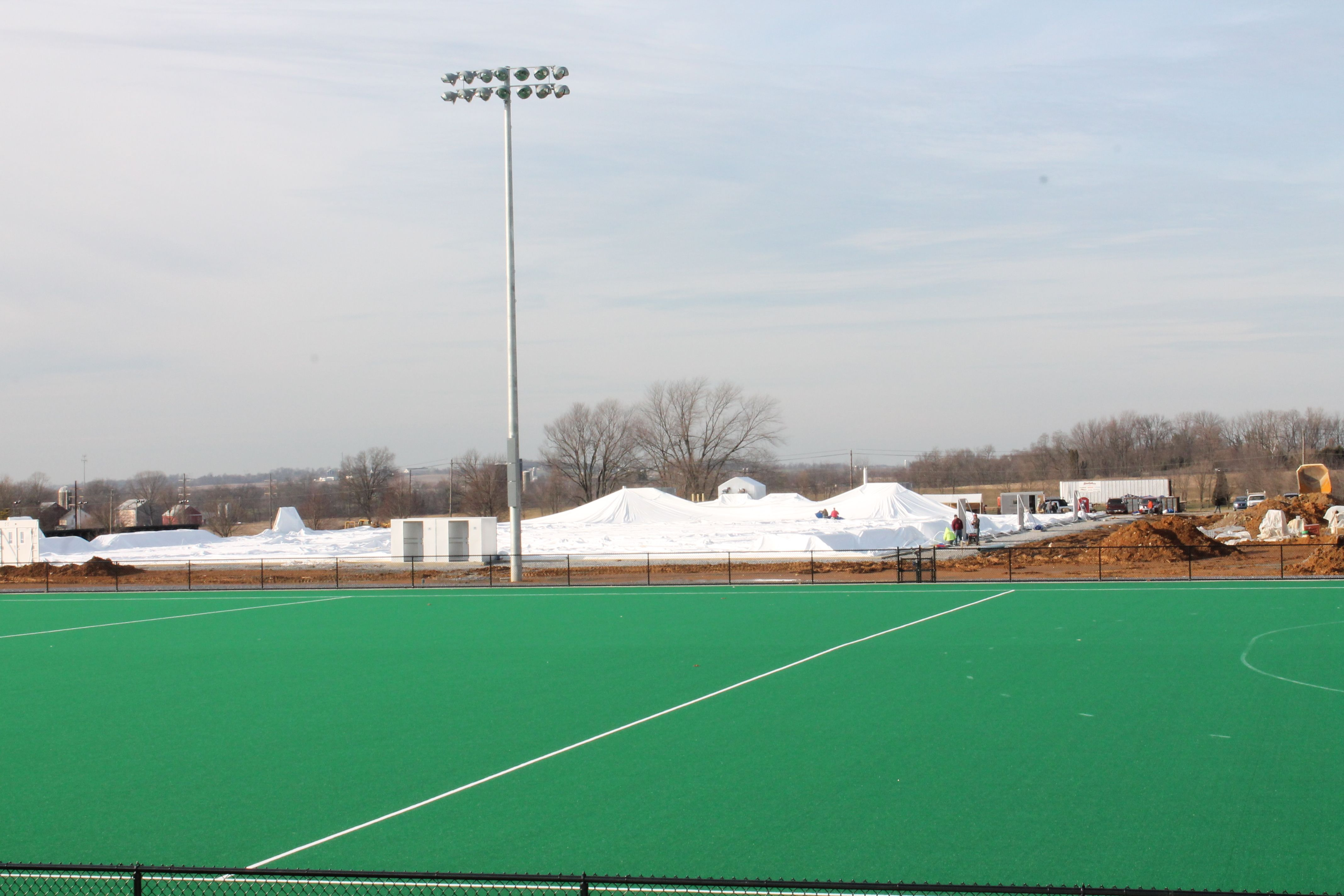 The Usa Field Hockey Teams Air Dome At The Beginning Spooky Nook Sports Spooky Nook Sports Complex