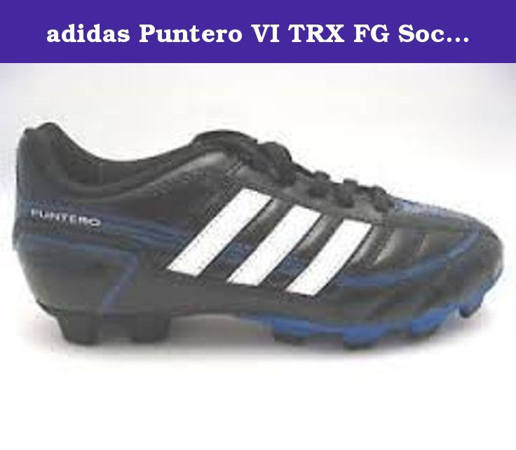 8d6cf29057316 adidas Puntero VI TRX FG Soccer Cleat (Little Kid/Big Kid),Black/Running  White/True Blue,5.5 M US Big Kid. Puntero vi trx fg j black/blue.