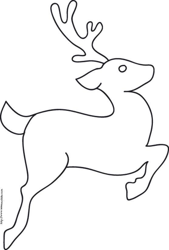 Coloriage du renne qui saute coloriage de renne et - Pere noel dessin facile ...