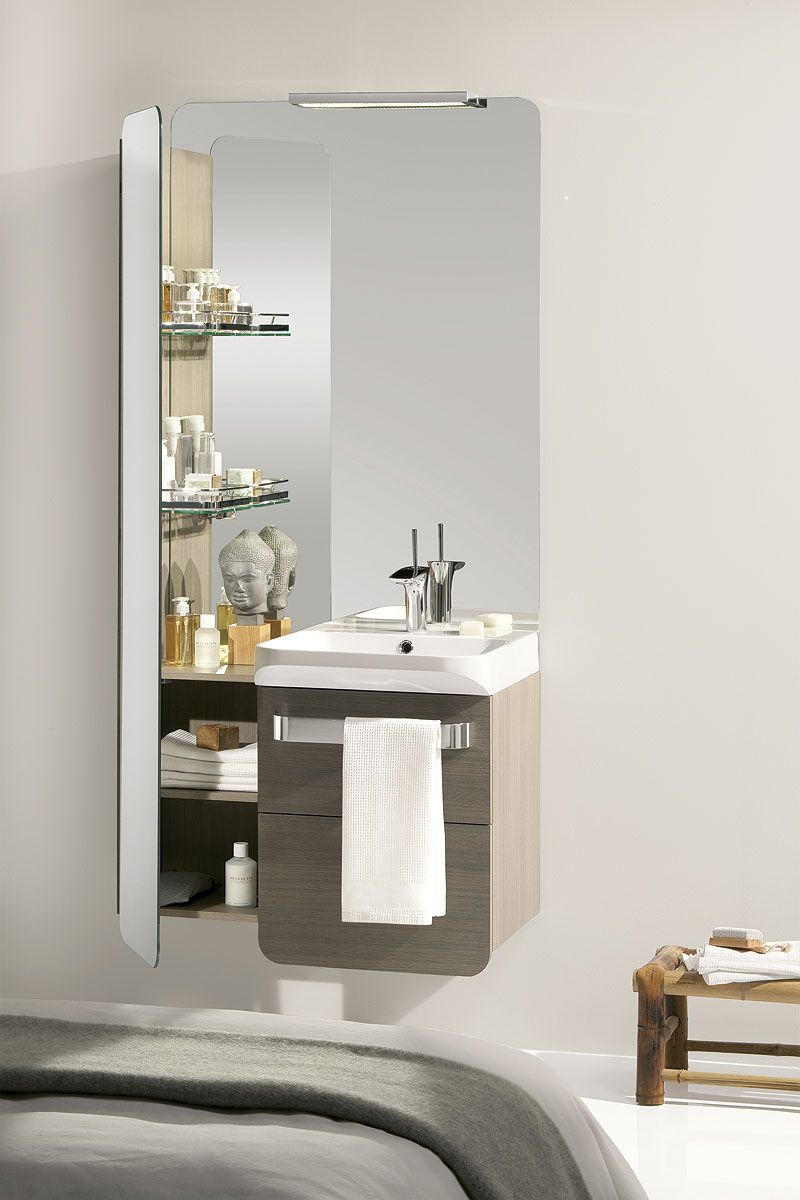 Concept Easy De Lido La Collection De Meuble De Salle De Bains Ideale Quand On A Un Soucis De Place Le Design N Est Pas Single Vanity Vanity Bathroom Vanity