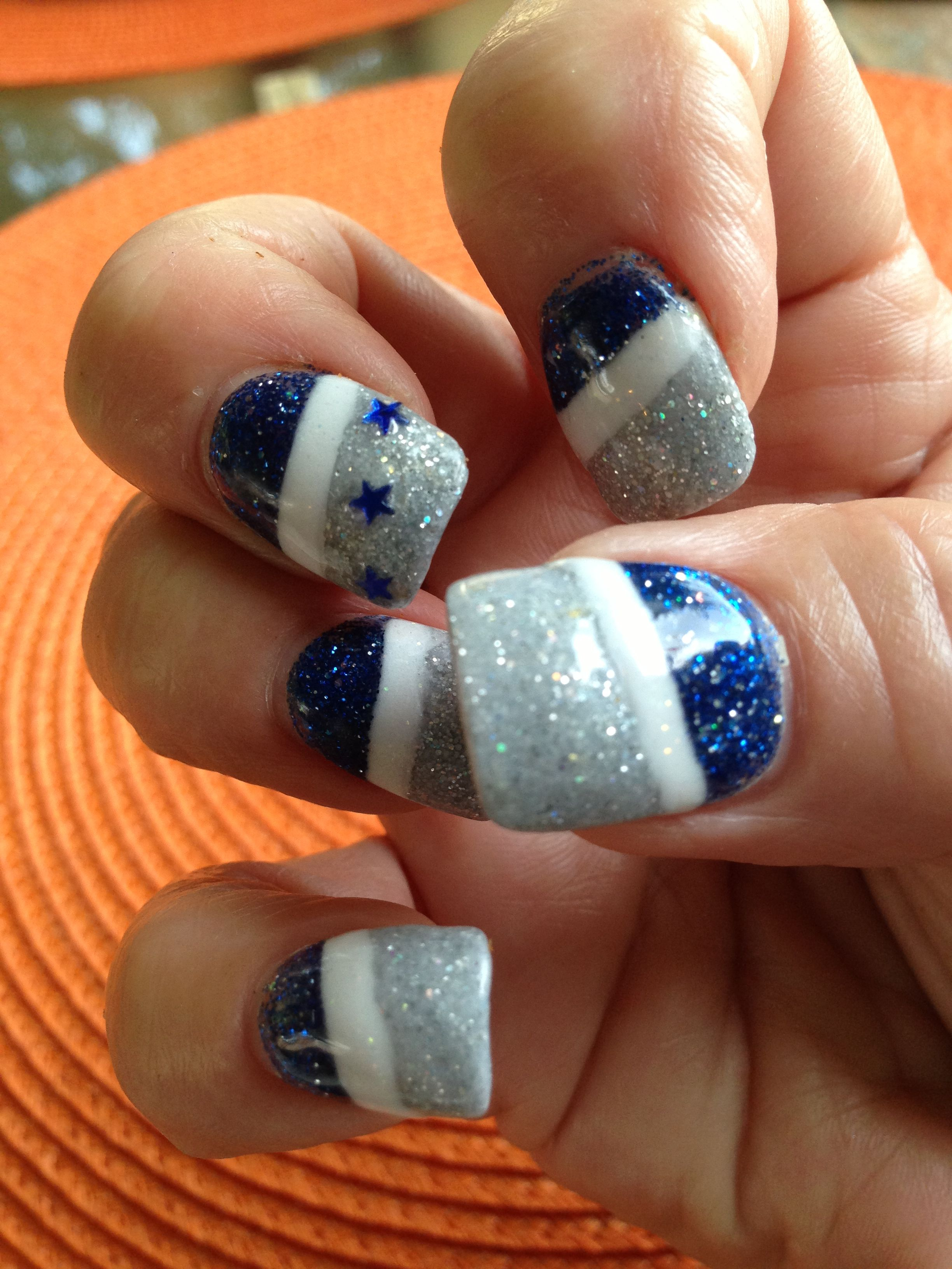Dallas Cowboy Nails!! | My Style | Pinterest | Dallas cowboys nails ...