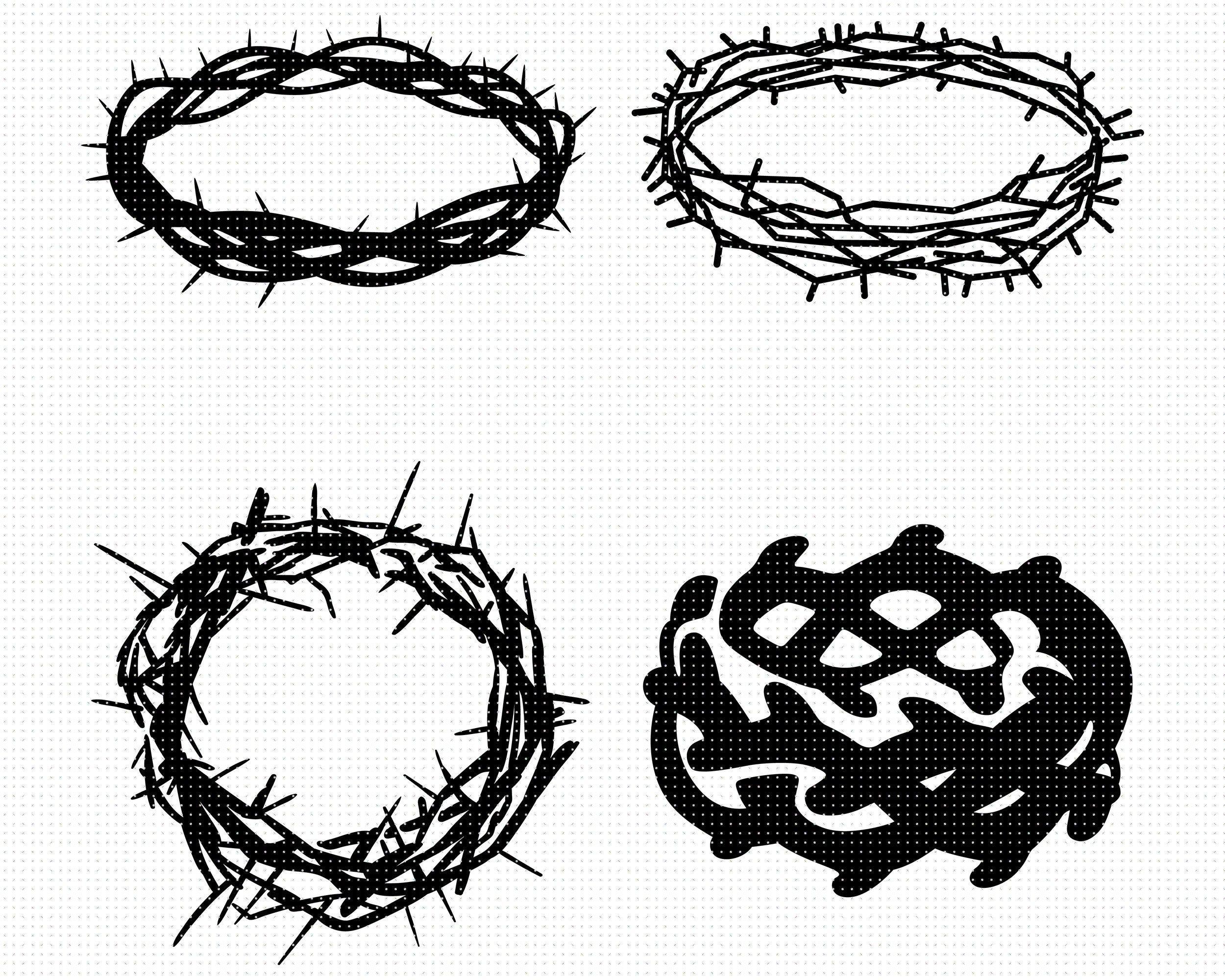 Jesus Crown Of Thorns Svg Crown Of Thorns Svg Eps Png Dxf Etsy Crown Of Thorns Jesus Crown King Crown Drawing
