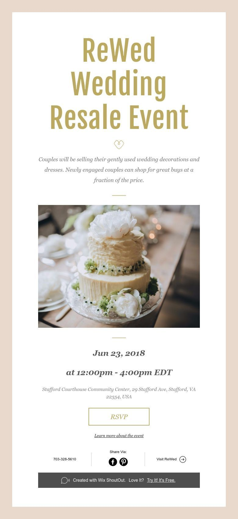 Rewed Wedding Resale Event Event Wedding Resale