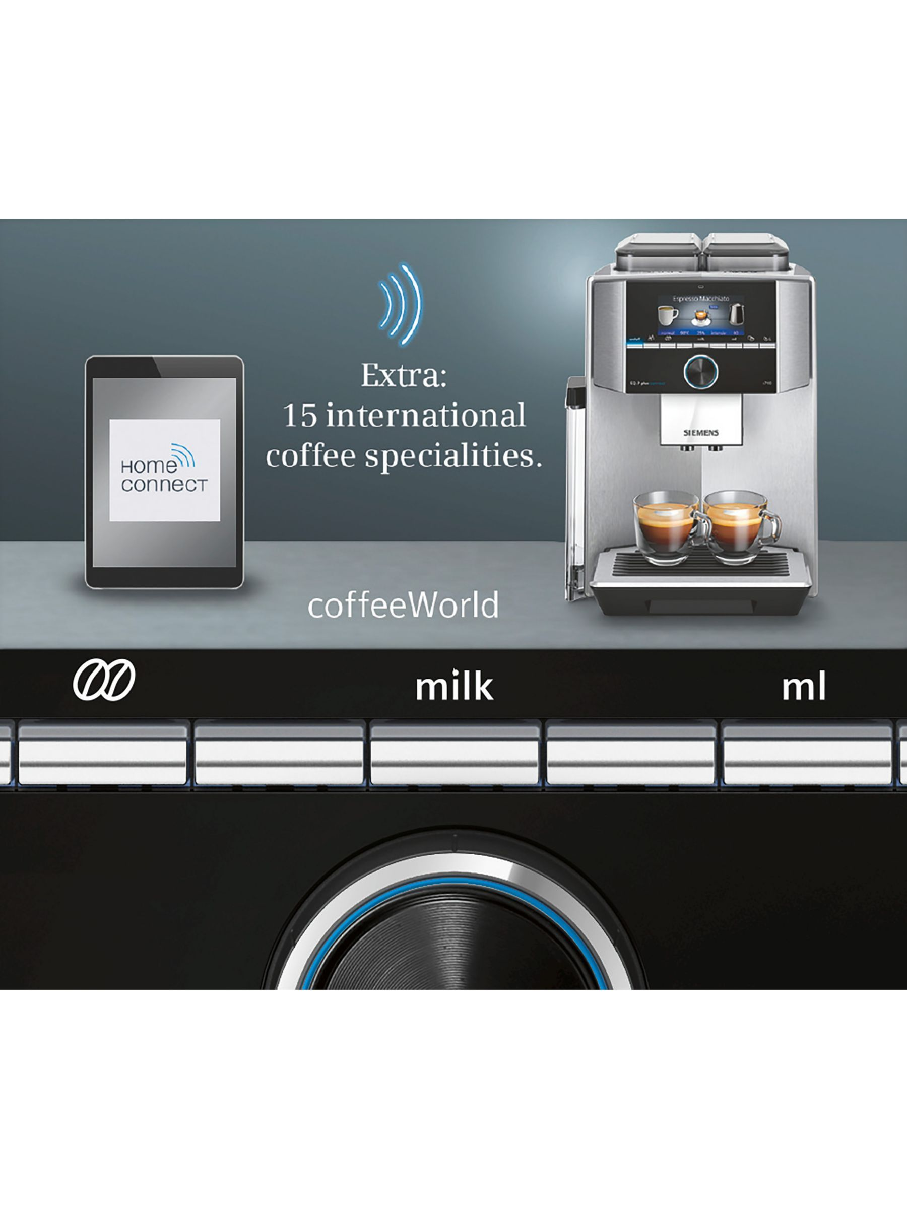 Siemens EQ.9 Plus Bean-to-Cup Automatic Coffee Machine, Silver #automaticcoffeemachine